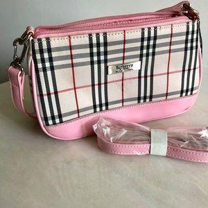 Burberry of London purse Pink Black Blue Label